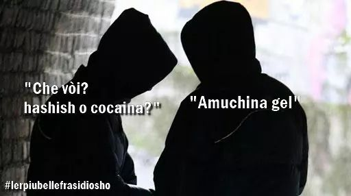 Spaccio di Amuchina meme