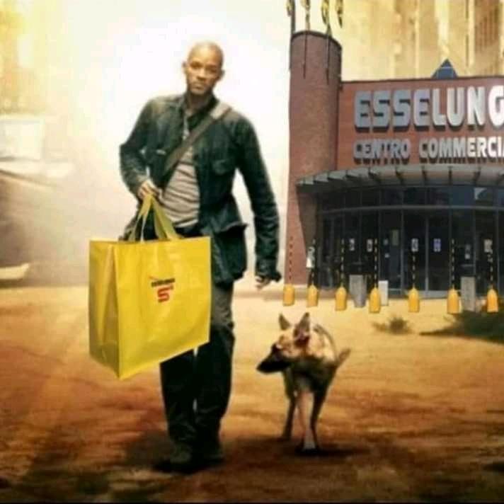 Io sono leggenda Meme supermercato Will Smith